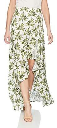 Show Me Your Mumu Women's Salsa Skirt with Ruffle and Slit