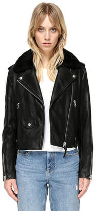 Mackage Baya-Dl Classic Moto Leather Jacket