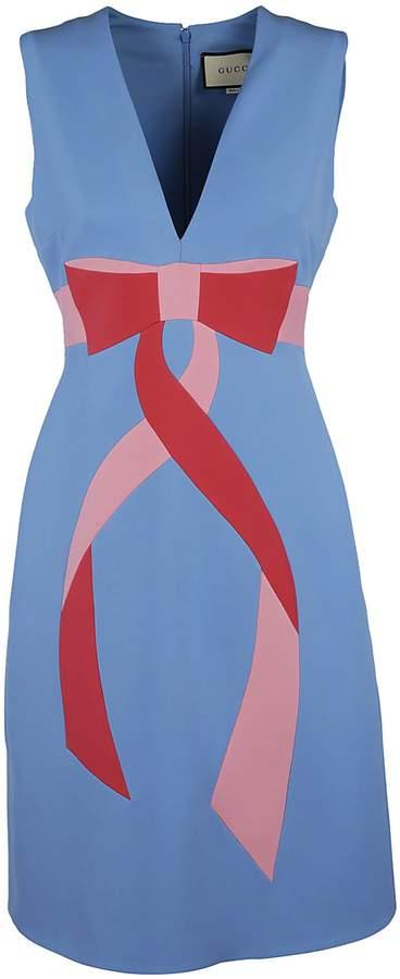 Gucci Bow Print Dress