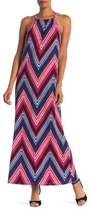 Trina Turk trina Milian High Crew Neck Print Maxi Dress