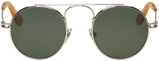 Givenchy Silver Round Sunglasses $375 thestylecure.com