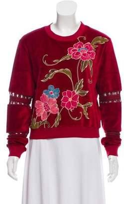 See by Chloe Velvet Floral Sweatshirt w/ Tags