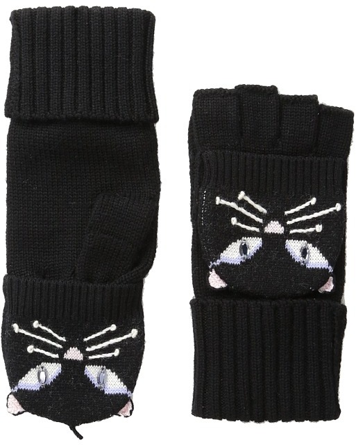 Kate Spade New York - Cat Pop Top Mitten  Extreme Cold Weather Gloves