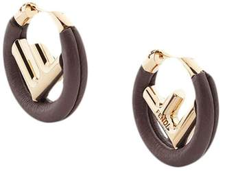 Fendi logo hoop earrings