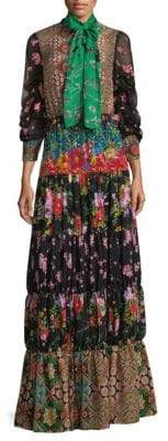 Alice + Olivia Clementine Tiered Maxi Dress