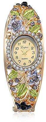 naivo Women's Quartz Stainless Steel and Plated Watch