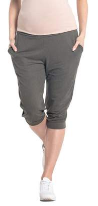 Happy Mama. Womens Maternity Crop Trousers Elastic Belly Band Pants. 699p (