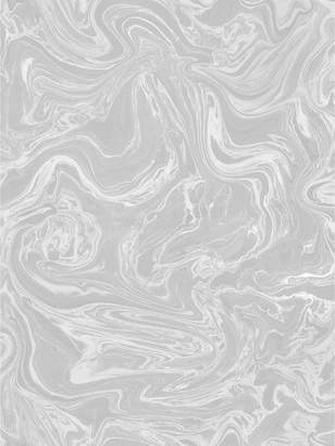 Graham & Brown Marbled Wallpaper - Grey / White