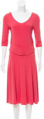 Armani Collezioni Belted A-Line Dress
