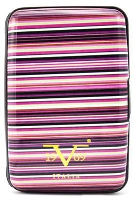 V19.69 Italia RFID Blocking Wallet, Secured Card Holder (Colorful Stripes)