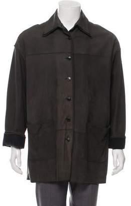 Fendi Vintage Wool-Lined Suede Coat