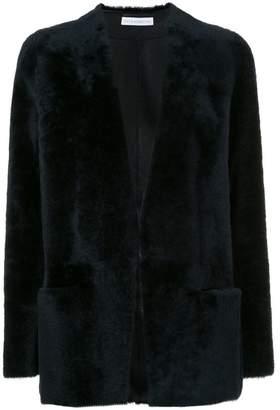 Inès & Marèchal shearling open front jacket