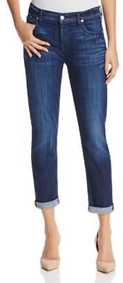 7 For All Mankind Jeans - Josefina Boyfriend in Bordeaux Broken Twill