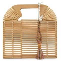 Vince Camuto Bayne Leather-Tassel Clutch