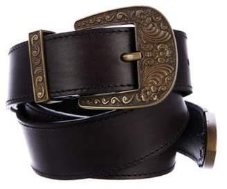 Alberta Ferretti Embellished Leather Belt