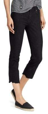 Lauren Ralph Lauren Petite Floral-Hem Skinny Jeans
