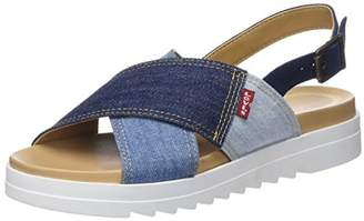 Levi's Footwear and Accessories Women's Persia Open Toe Sandals, (Navy Blue 17)