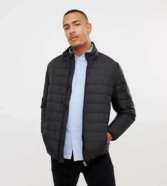 Jacamo Tall puffer jacket in black