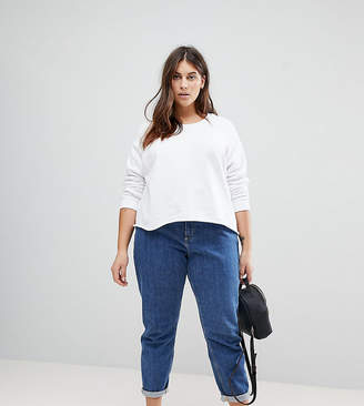 Asos Swing Sweatshirt with Raw Hem
