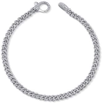 Shay Baby Pavé Diamond Link Bracelet - White Gold