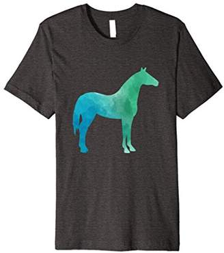 Green Blue Standing Colorful Horse or Pony Equine T-Shirt