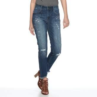 Seven7 Women's Paint Splatter Skinny Ankle Jeans