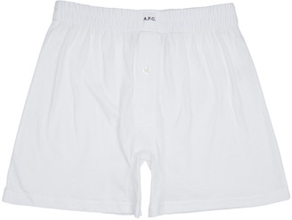 A.P.C. White Cabourg Boxers $40 thestylecure.com