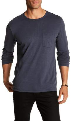 Velvet by Graham & Spencer Classic Slub Long Sleeve Crew Pocket Tee