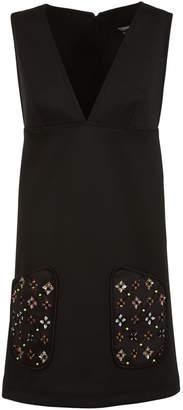 Versace Versus Embellished Pocket Dress