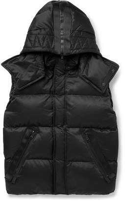 Tom Ford Oversized Quilted Cotton-Blend Hooded Down Gilet - Black