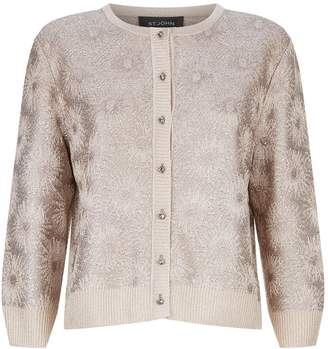 St. John Embellished Crop Cardigan