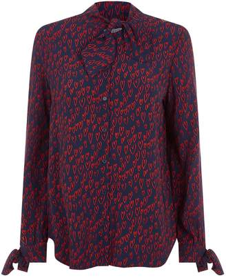 Claudie Pierlot Heart Print Shirt