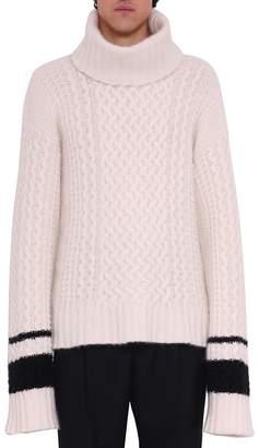 Haider Ackermann Borago Cream Wool Blend Turtleneck Sweater