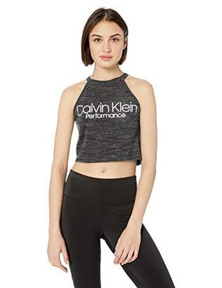 Calvin Klein Women's Halter Neck Crop Top