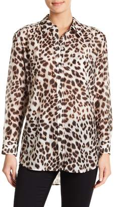 Equipment Daddy Cheetah Print Blouse