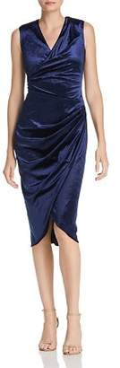 Adrianna Papell Draped Velvet Dress