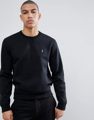 Polo Ralph Lauren Crewneck Sweatshirt Polo Player In Black