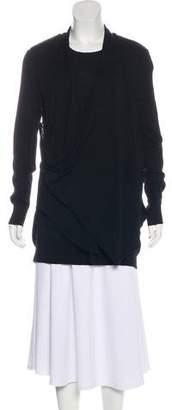 Joan Vass Long Sleeve Draped Top
