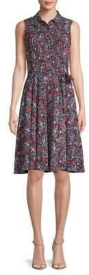 Nanette Lepore Floral Sleeveless Chiffon Dress