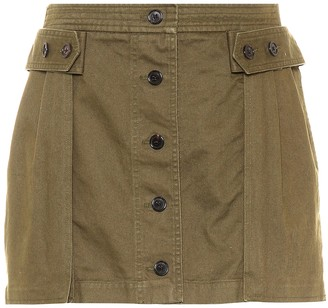 Saint Laurent Cotton-blend miniskirt