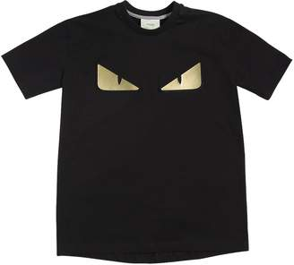 Fendi Monster Eyes Cotton Jersey T-Shirt