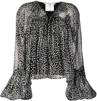 Stella McCartney black and white polka-dots blouse
