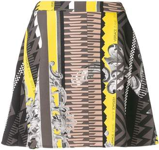 Versace printed A-line mini skirt