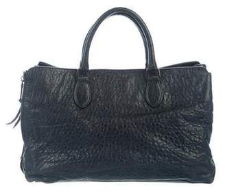 Rochas Pebbled Leather Tote