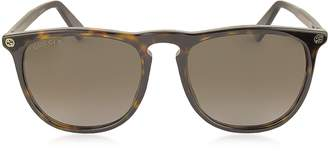 Gucci GG0120S 006 Havana Acetate Rounded Square Men's Polarized Sunglasses