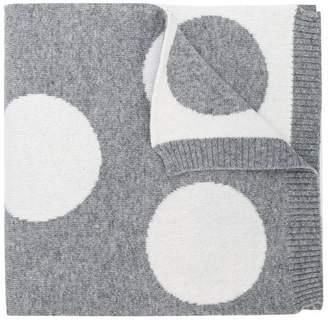 Simonetta polka dot knitted scarf