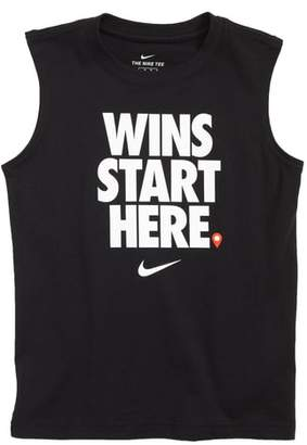 Nike Wins Start Here Graphic Muscle T-Shirt