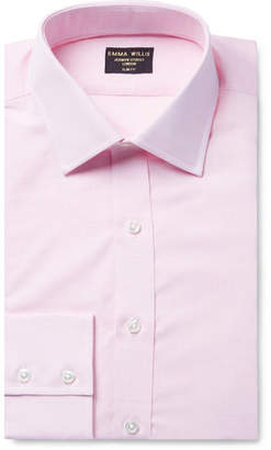 Pink Slim-Fit Cotton Shirt