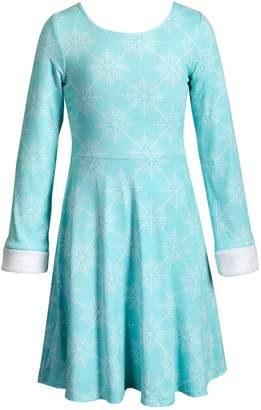 This Girls Reversible Dress From Emily West Offers Double The Style And Features Cute Faux Fur Trim For Trendy Appeal. Girls 7-16 Emily West Reversible Faux-Fur Trim Dress