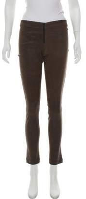 Alice + Olivia Leather Skinny Leggings